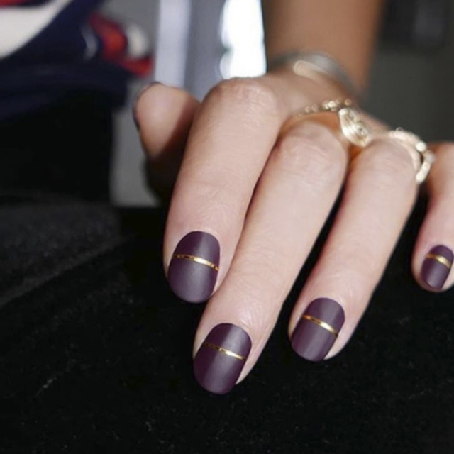 Image result for purple and gold nails lines